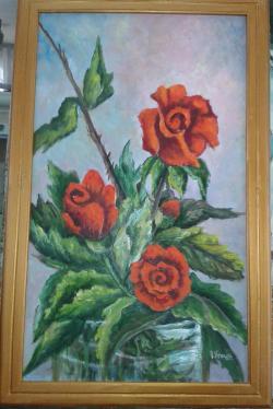 Picturi cu flori trei trandafiri
