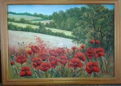 Picturi cu flori valceaua cu maci