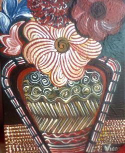 Picturi de primavara Amfora cu flori
