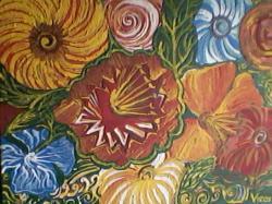 Picturi cu flori Flori fantastice.