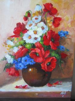 Picturi cu flori BUCHET ASORTAT