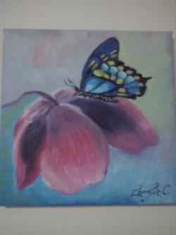 Picturi cu flori Butterfly