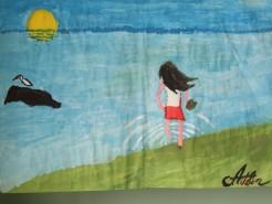 Picturi cu peisaje Intrare in mare