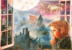 Picturi cu peisaje Dream horses