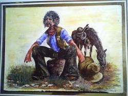 Picturi cu peisaje cu calul la pascut