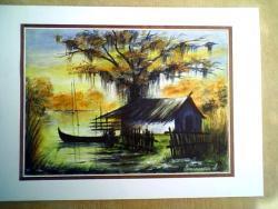 Picturi cu peisaje delta cu soare