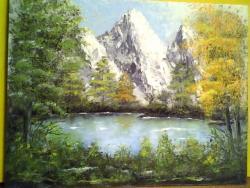 Picturi cu peisaje lac de munte 54