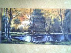 Picturi cu peisaje lacul codrilor,albastru