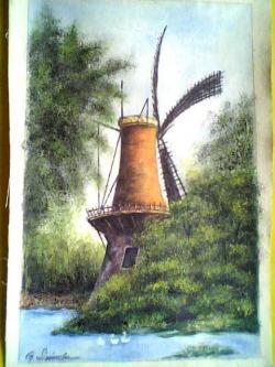 Picturi cu peisaje peisaj cu moara de vant 54