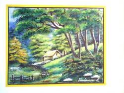 Picturi cu peisaje vara la munte 14