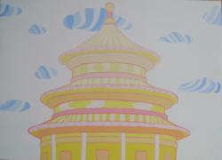 Picturi cu peisaje templul raiului