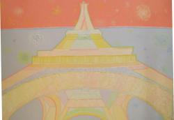 Picturi cu peisaje turnul Eiffel 2