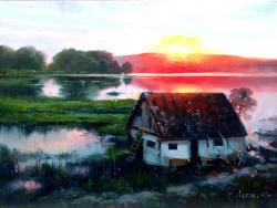 Picturi cu peisaje casa in delta
