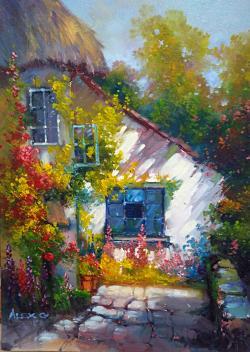 Picturi cu peisaje lumina casei