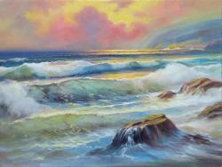 Picturi cu peisaje marina.