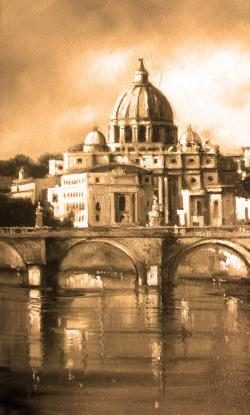 Picturi cu peisaje la roma
