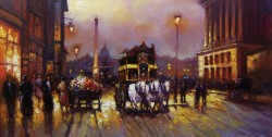 Picturi cu peisaje Parisul retro