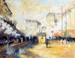 Picturi cu peisaje gara