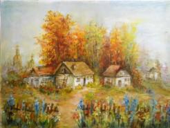 Picturi cu peisaje Gard de flori