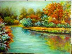 Picturi cu peisaje Oglinda verii