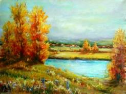 Picturi cu peisaje Peisaj in galben