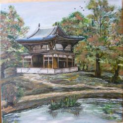 Picturi cu peisaje Pagoda solitara