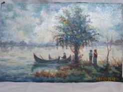 Picturi cu peisaje Pescari