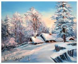 Picturi cu peisaje FEERIE ALBASTRA