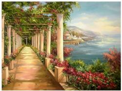 Picturi cu peisaje PROMENADA LA MALUL MARII