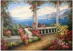 Picturi cu peisaje TERASA CU FLORI