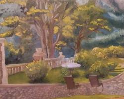 Picturi cu peisaje Gradina la Busteni