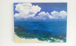 Picturi cu peisaje Nori deasupra marii
