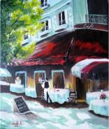 Picturi cu peisaje Cafenea