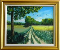 Picturi cu peisaje Camp insorit