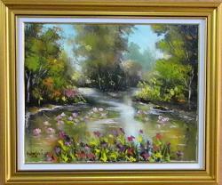Picturi cu peisaje CANAL INFLORIT
