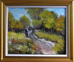 Picturi cu peisaje Carausul de lemne