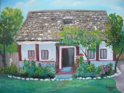 Picturi cu peisaje Casa copilariei mele-titesti
