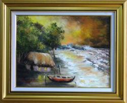Picturi cu peisaje CASA DE PESCARI 2