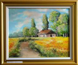 Picturi cu peisaje Drum in camp