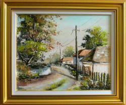 Picturi cu peisaje INTRARE IN SATUL INSORIT