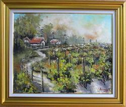 Picturi cu peisaje LA MARGINE DE VIE