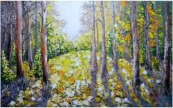 Picturi cu peisaje La marginea padurii