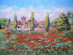 Picturi cu peisaje Langa maci