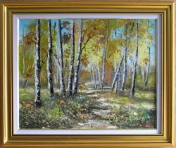 Picturi cu peisaje MESTECENI IN SOARE