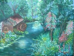 Picturi cu peisaje Moara parasita