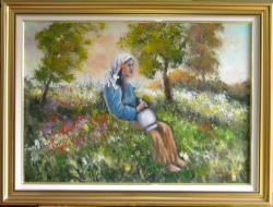 Picturi cu peisaje ODIHNA IN UMBRA VERII