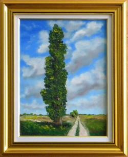 Picturi cu peisaje Plopul singuratic