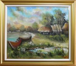 Picturi cu peisaje POPAS DE PESCARI 3