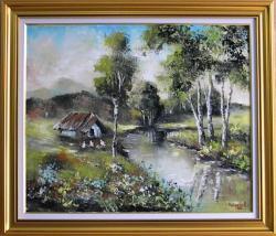 Picturi cu peisaje RAU DE VARA