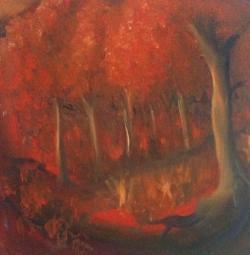 Picturi cu peisaje Red forest